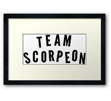 """TEAM SCORPEON"" - Scorpion (large) Framed Print"