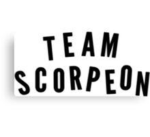 """""""TEAM SCORPEON"""" - Scorpion (large) Canvas Print"""