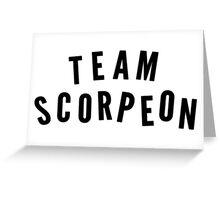 """TEAM SCORPEON"" - Scorpion (large) Greeting Card"