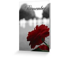 Red Rose Remembrance  Greeting Card