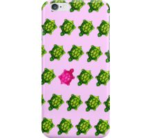 Pink Turtle Walking Against The Flow iPhone Case/Skin