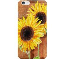 A Couple Of Decorative Sunflowers  iPhone Case/Skin