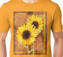 A Couple Of Decorative Sunflowers  Unisex T-Shirt