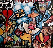 Blow Bird Decopollage 2016 by Maureen Zaharie