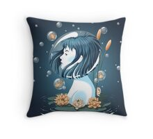 Breathing Underwater Throw Pillow