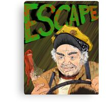 Cabbie's Escape! Canvas Print