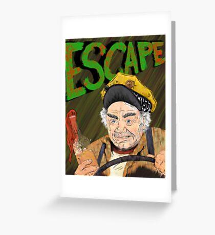 Cabbie's Escape! Greeting Card