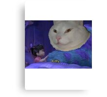 Kitty Monsters Inc. Canvas Print