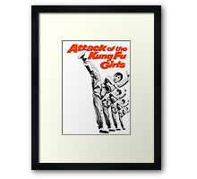 Kung Fu Attack Girls Framed Print