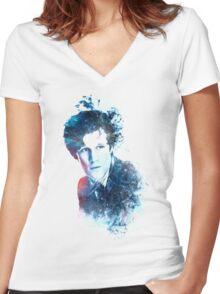Matt Smith - Doctor Who #11 Women's Fitted V-Neck T-Shirt