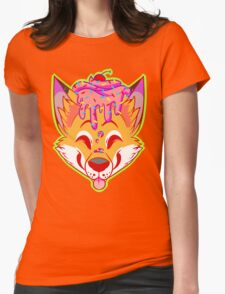 Cupcake Fox Womens Fitted T-Shirt