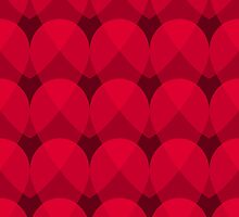 Red Valentine's day seamless pattern with hearts. by badhat121