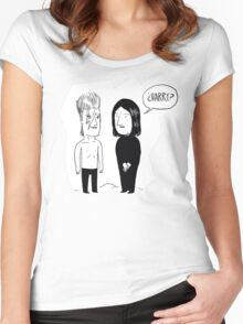 Meeting in heaven Women's Fitted Scoop T-Shirt