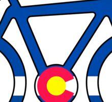Colorado flag bike Sticker