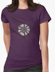 BW Swirl Ellipse Womens Fitted T-Shirt
