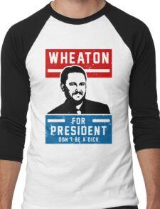 President Wheaton Men's Baseball ¾ T-Shirt