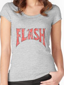 Flash Gordon - Distressed Logo simple design Women's Fitted Scoop T-Shirt