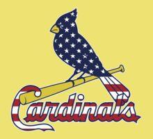 St Louis Cardinals Flag Logo One Piece - Short Sleeve