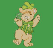 Irish Bear with Shamrock One Piece - Short Sleeve
