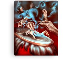 Embodied creature. Hot red decor Canvas Print