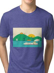 Sunrise at the Port Tri-blend T-Shirt