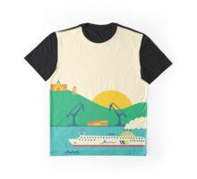 Sunrise at the Port Graphic T-Shirt
