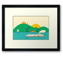 Sunrise at the Port Framed Print