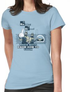 Baking Bread Blue variant Womens Fitted T-Shirt