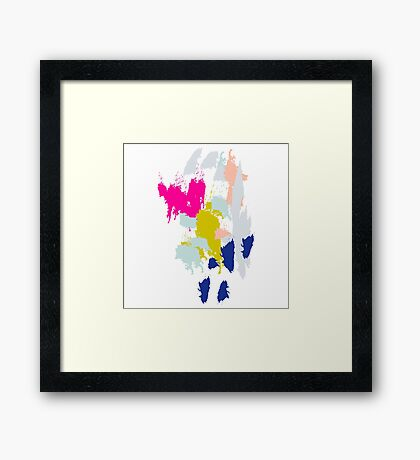 Acrylic paint brush strokes. Framed Print