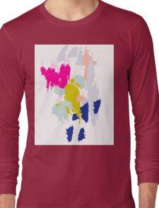 Acrylic paint brush strokes. Long Sleeve T-Shirt