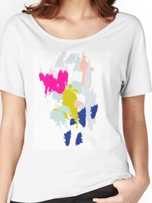 Acrylic paint brush strokes. Women's Relaxed Fit T-Shirt