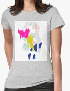 Acrylic paint brush strokes. Womens Fitted T-Shirt