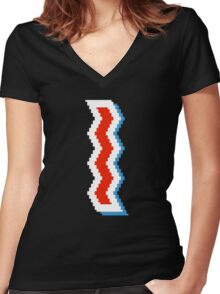 """8-bit ST. IDES """"Cooked I"""" Women's Fitted V-Neck T-Shirt"""