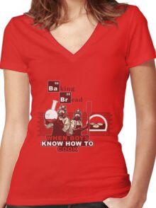 Baking Bread Women's Fitted V-Neck T-Shirt