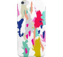 Acrylic paint brush stroke pattern. iPhone Case/Skin