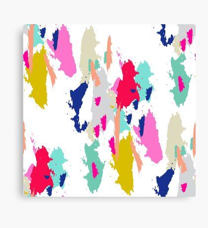 Acrylic paint brush stroke pattern. Canvas Print