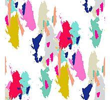 Acrylic paint brush stroke pattern. Photographic Print