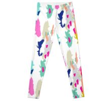 Acrylic paint brush stroke pattern. Leggings