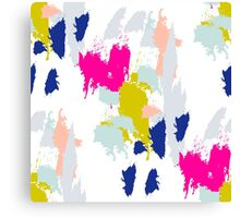 Gouache paint brush stroke pattern. Canvas Print