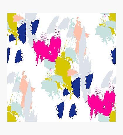 Gouache paint brush stroke pattern. Photographic Print