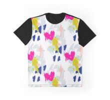 Gouache paint brush stroke pattern. Graphic T-Shirt