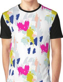 Gouache paint brush stroke pattern. Graphic T-Shirt