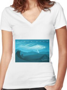 Whale Song part 3 Women's Fitted V-Neck T-Shirt