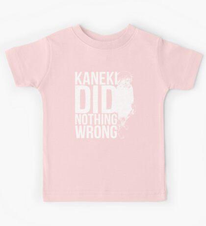 Kaneki Ken! (white) Kids Tee