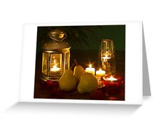 Pears by candle light Greeting Card