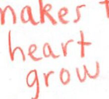 sarcasm makes the heart grow fonder Sticker