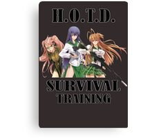 Survival Training Canvas Print