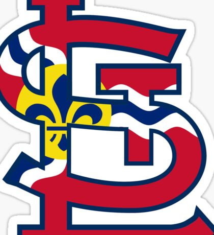 St Louis Cardinals Flag Logo Sticker