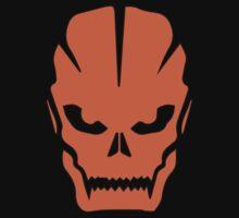 Orange skull by Nuijten