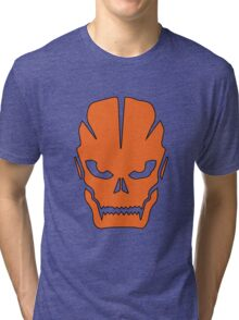 Orange skull Tri-blend T-Shirt